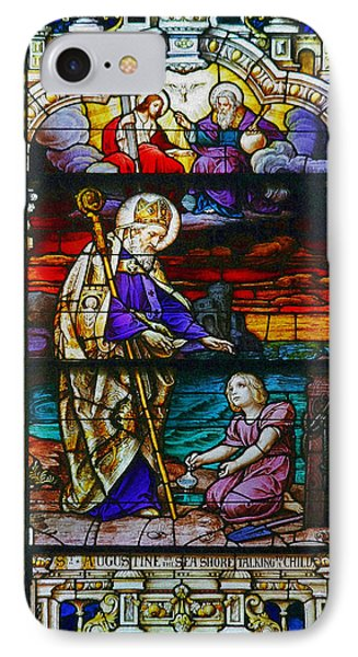 St Augustine By The Sea Shore Talking To A Child Phone Case by Christine Till