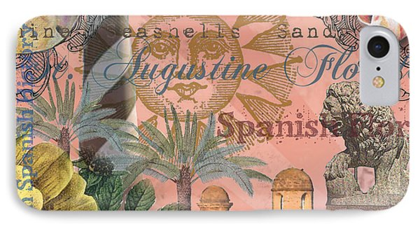 St. Augustine Florida Vintage Collage IPhone Case by Mary Hubley