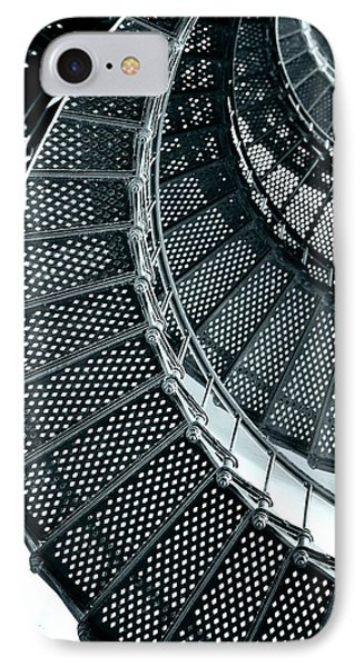 St Augustine Lighthouse Staircase Phone Case by Christine Till