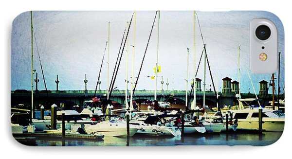 St. Augustine Sailboats Phone Case by Laurie Perry