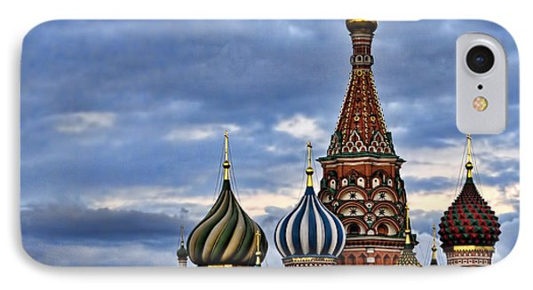 St Basils Cathedral - Moscow Russia IPhone Case by Jon Berghoff