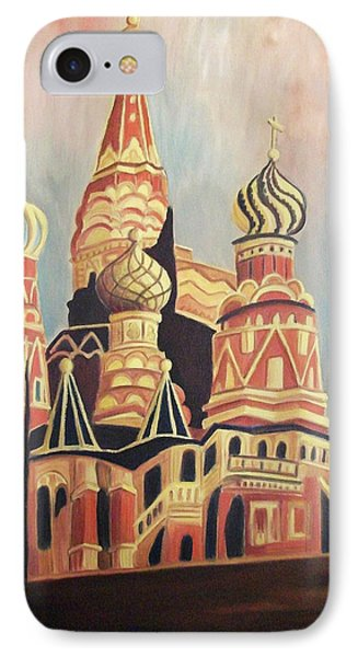 St Basil's Cathedral Moscow IPhone Case by Suzanne  Marie Leclair