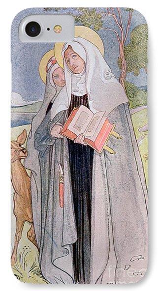 St Bridget Of Sweden IPhone Case by Carl Larsson