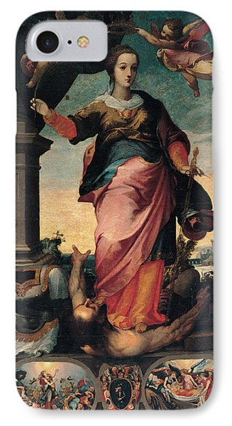 St Catherine Of Alexandria, 1570 - 1611 IPhone Case by Il Sozzo
