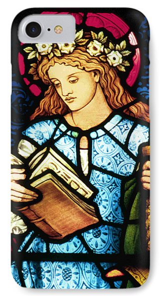 St Catherine Of Alexandria In Stained Glass Phone Case by Philip Ralley