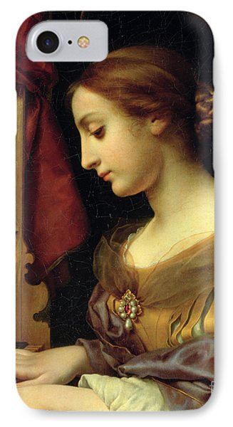 St. Cecilia IPhone Case by Carlo Dolci