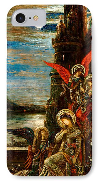 St Cecilia The Angels Announcing Her Coming Martyrdom Phone Case by Gustave Moreau