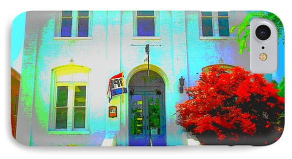 St. Charles County City Hall Painted IPhone Case by Kelly Awad