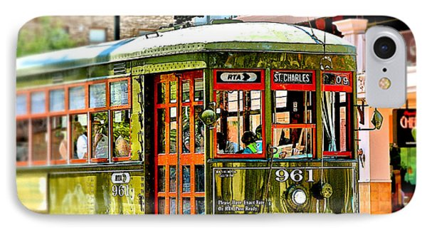 IPhone Case featuring the photograph St. Charles Streetcar by Jim Albritton