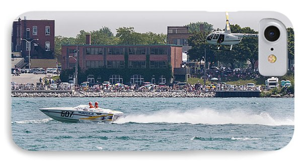 St. Clair Michigan Usa Power Boat Races-4 Phone Case by Paul Cannon