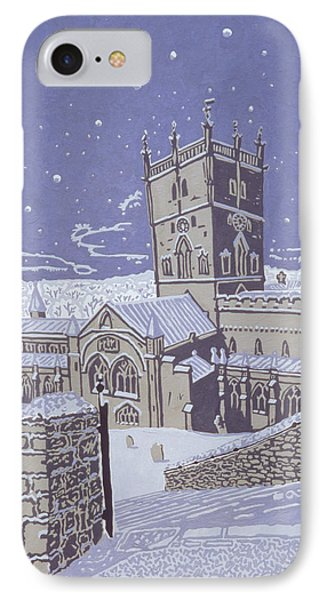 St David S Cathedral In The Snow IPhone Case
