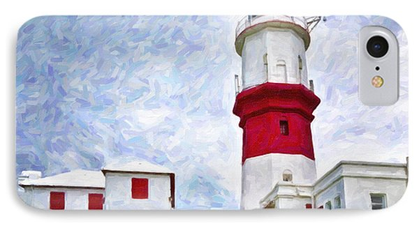 IPhone Case featuring the photograph St. David's Lighthouse by Verena Matthew