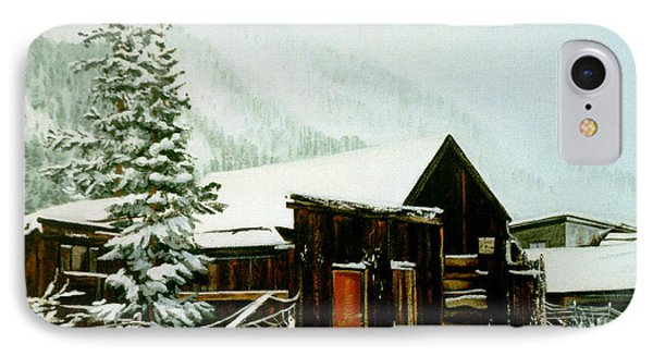 IPhone Case featuring the painting St Elmo Snow by Craig T Burgwardt