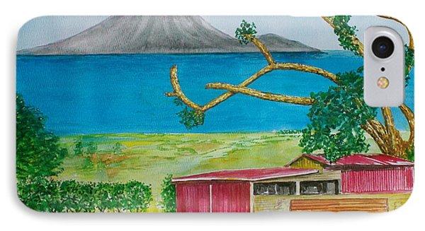 St. Eustatis From St. Kitts IPhone Case by Frank Hunter