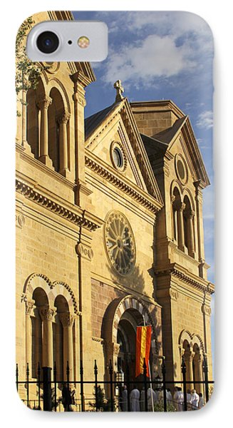 St. Francis Cathedral - Santa Fe IPhone Case by Mike McGlothlen