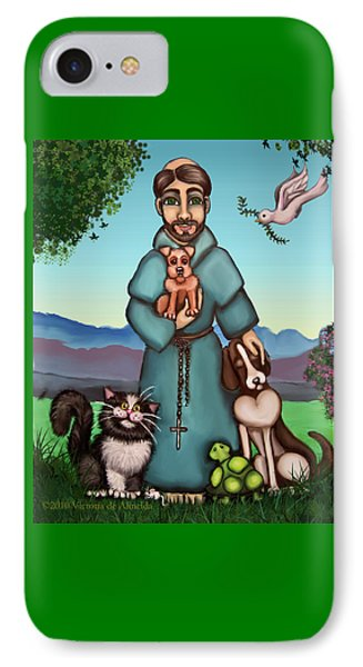 St. Francis Libertys Blessing IPhone 7 Case by Victoria De Almeida