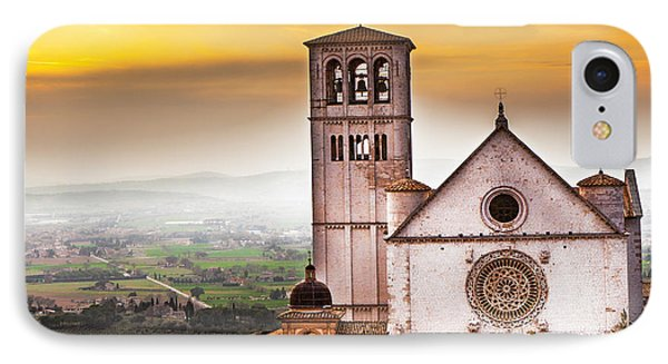St Francis Of Assisi Church At Sunrise  IPhone Case by Susan Schmitz