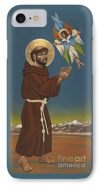 IPhone Case featuring the painting St. Francis Patron Of Colorado 186 by William Hart McNichols