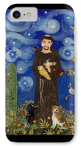 St. Francis Starry Night Phone Case by Sue Betanzos