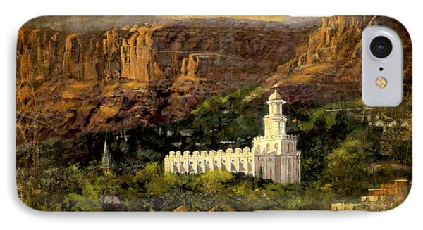 St. George Temple Red Hills Antique IPhone Case