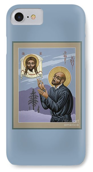 IPhone Case featuring the painting St. Ignatius Amidst Alaska 141 by William Hart McNichols