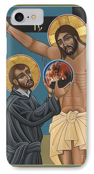 IPhone Case featuring the painting St. Ignatius And The Passion Of The World In The 21st Century 194 by William Hart McNichols