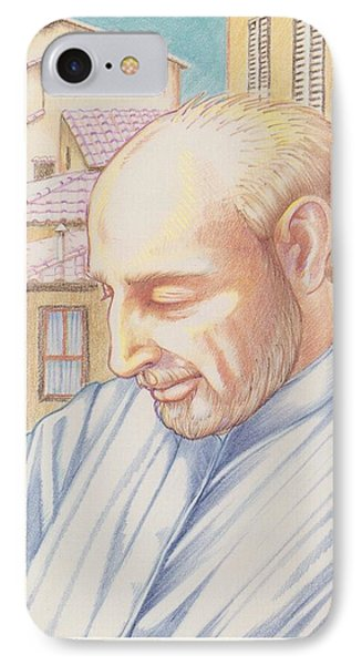 IPhone Case featuring the painting St. Ignatius At Prayer In Rome by William Hart McNichols