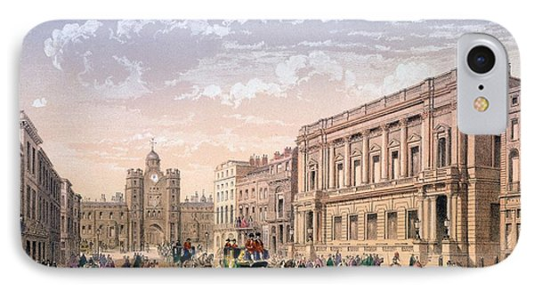 St James Palace And Conservative Club IPhone Case by Achille-Louis Martinet