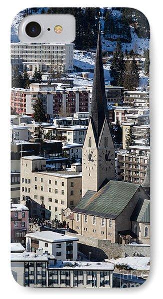 St Johann Davos Church St John Town Phone Case by Andy Smy
