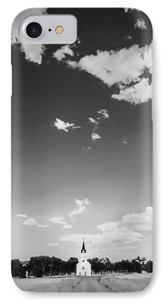 St John The Evangelist Catholic Church Bw IPhone Case by Rich Franco