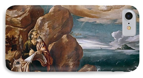 St John The Evangelist On Patmos IPhone Case by Pedro Orrente