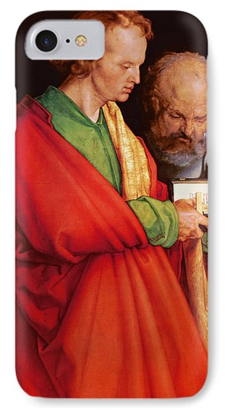 St. John With St. Peter And St. Paul With St. Mark, 1526 Oil On Panel Detail Of 170205 IPhone Case by Albrecht D�rer or Duerer