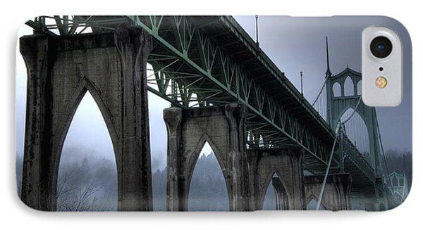 St Johns Bridge Oregon IPhone Case by Bob Christopher