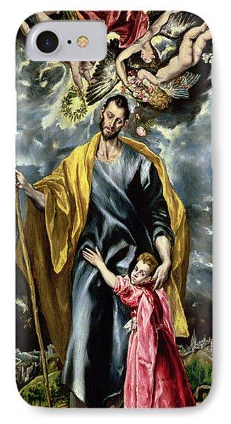 Saint Joseph And The Christ Child IPhone Case