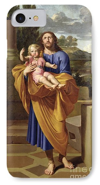 St. Joseph Carrying The Infant Jesus IPhone Case