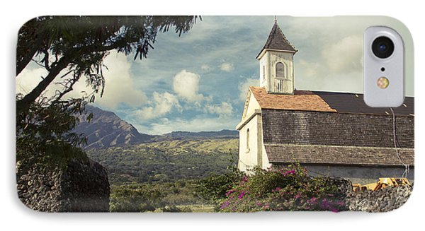 St. Joseph Church Kaupo Maui Hawaii IPhone Case by Sharon Mau