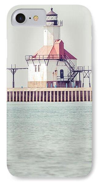St. Joseph Lighthouse Vertical Panorama Photo IPhone Case