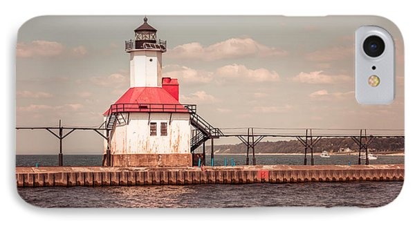 St. Joseph Lighthouse Vintage Picture  Photo Phone Case by Paul Velgos