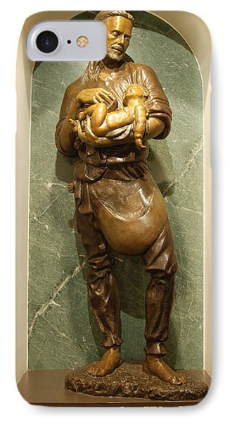 St Joseph The Worker Phone Case by Philip Ralley