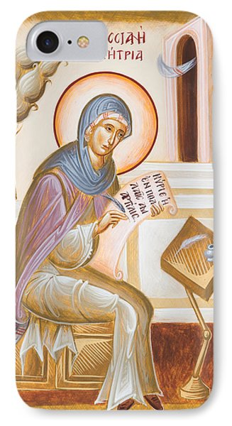 St Kassiani The Hymnographer IPhone Case by Julia Bridget Hayes