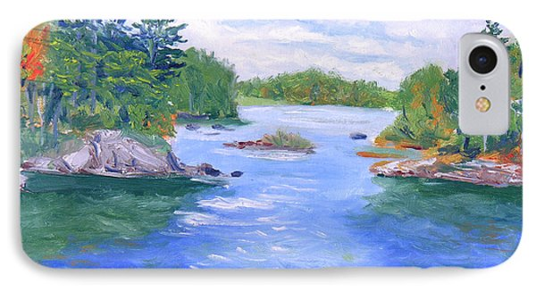St Lawrence River-view From Waterson State Park Phone Case by Robert P Hedden