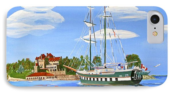 IPhone Case featuring the painting St Lawrence Waterway 1000 Islands by Phyllis Kaltenbach