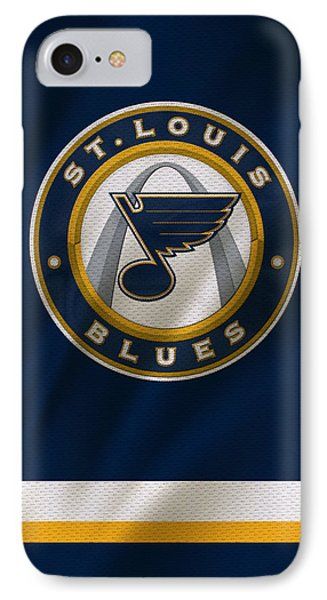 St Louis Blues Uniform IPhone Case by Joe Hamilton