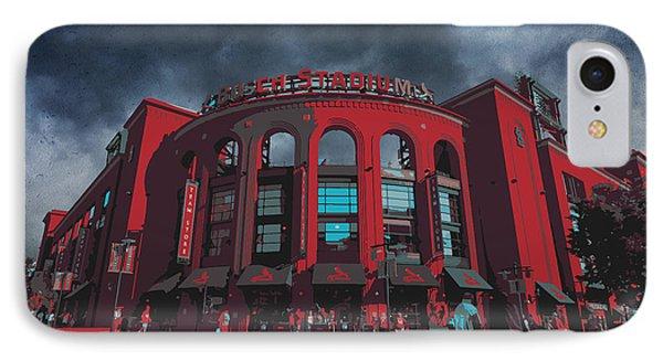 St. Louis Busch Stadium Cardinals 9162 Art IPhone Case