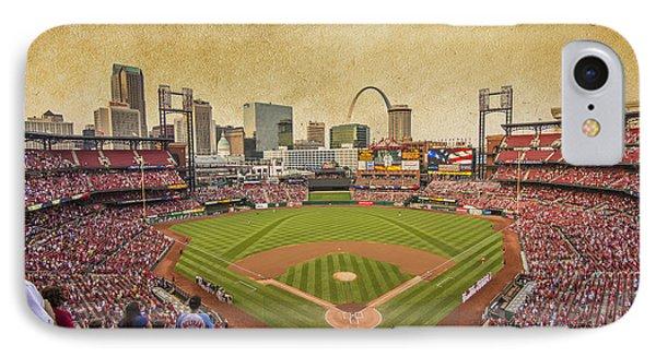 St. Louis Cardinals Busch Stadium Texture 9252 IPhone Case by David Haskett