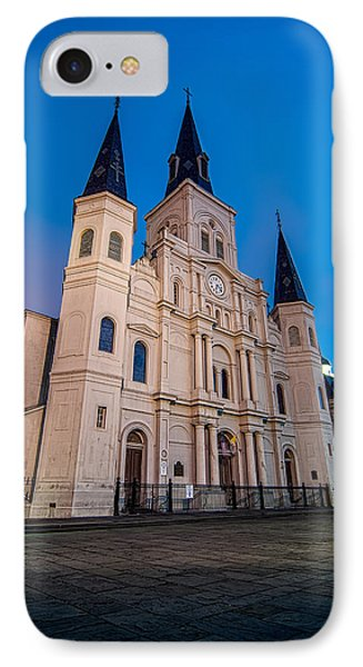 St. Louis Cathedral At Twilight IPhone Case by Andy Crawford