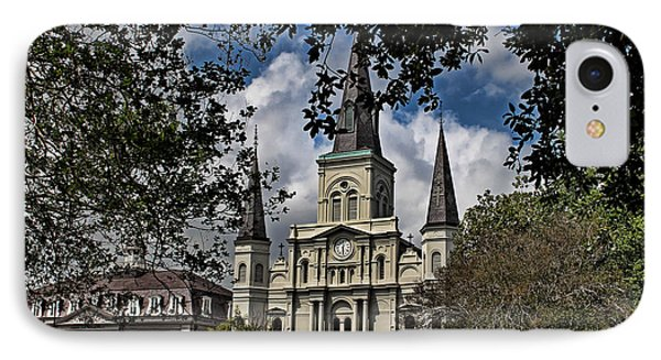 St. Louis Cathedral Phone Case by Judy Vincent