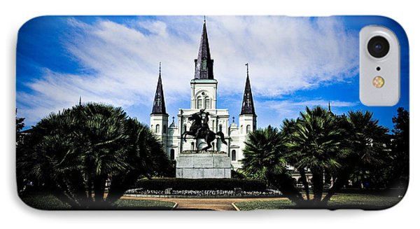 IPhone Case featuring the photograph St Louis Cathedral In Jackson Square by Ray Devlin