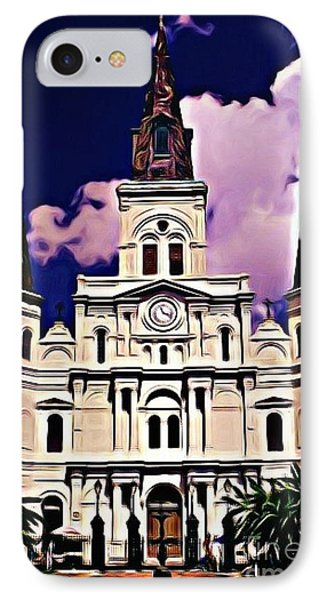St Louis Cathedral In New Orleans Phone Case by John Malone