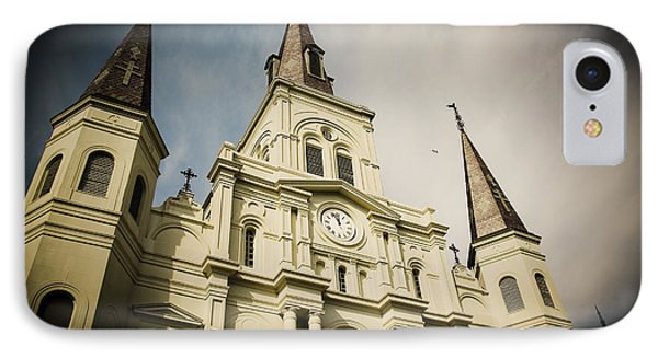 IPhone Case featuring the photograph St Louis' Cathedral In New Orleans by Ray Devlin